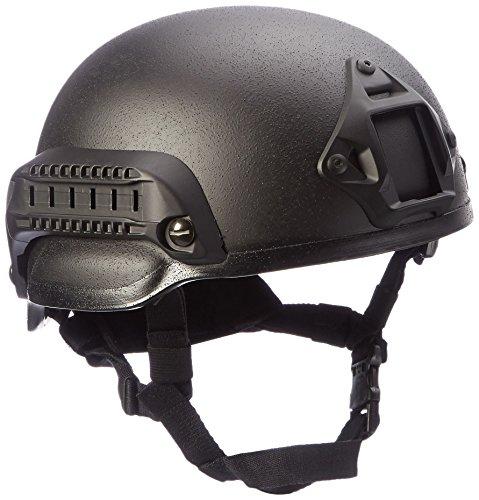 Mil-Tec US Combat Helmet Mich 2002 W Black Rail