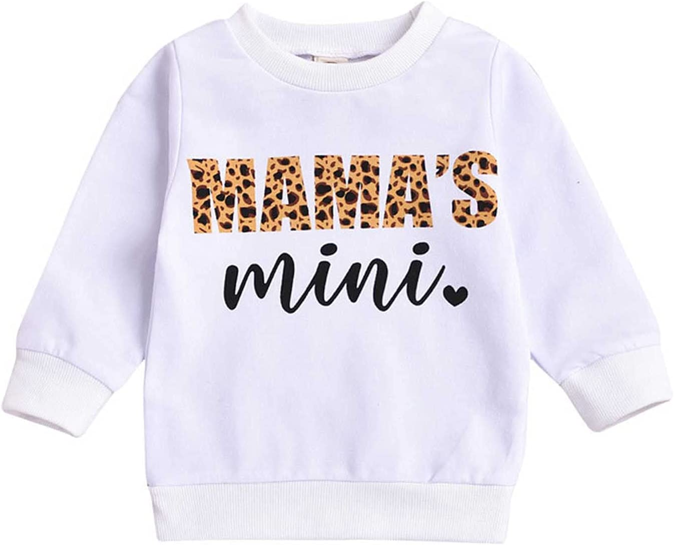 .ndg.dga Kids Toddler Long Our shop most popular Sleeve Printing Clothes OFFer Top Ba Letter