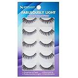 Stephany Natural Multipack 5 Pairs False Eyelashes, Easy to Apply Fake Eyelashes, Reusable Light Weight Eye Lashes (D 01)