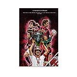 RTYHJ AC Mailand Legends Poster, dekoratives Gemälde,