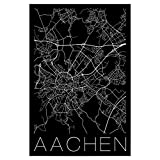artboxONE Poster 30x20 cm Städte Retro Map Aachen Germany