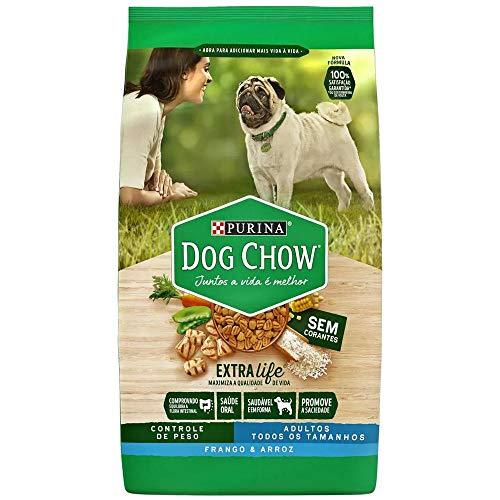 Ração Dog Chow para Cães Adultos sabor Frango e Arroz Controle de Peso - 15kg Purina para Todas Todos os tamanhos de raça Adulto - Sabor Frango