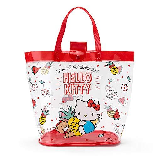 K Company Sanrio Hello Kitty Borsa di plastica per piscina, spiaggia 34x15x26cm Frutti rossi 294233 dal Giappone