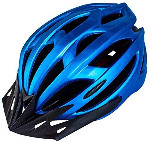 HYLL La Mujer del Hombre al Aire Libre Deportes Casco de Seguridad del Casco de la Bicicleta Casco de Bicicleta de montaña Universal rigidez dieléctrica especialista con la luz del LED,Azul,un.
