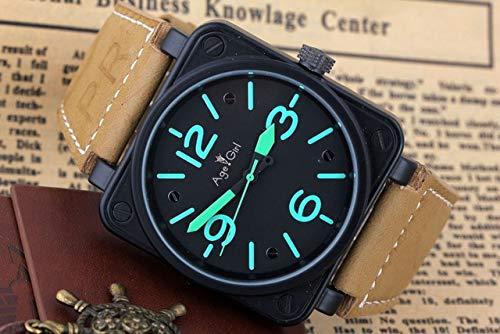 GFDSA Automatische horloges Heren luxe merk Automatische zelfwind Mechanische bruine lederen band 46 mm Vierkant zilver Zwart Limited Edition horloge