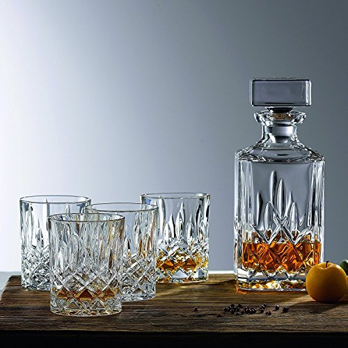 Le'raze Whiskey Decanter & Whisky Glasses Bar Set, for Wine, whiskey and...