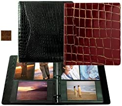 Raika Álbum de fotos de fichário VI 161 COGNAC 20,32 cm x 28,94 cm. Combinação de anéis - Conhaque