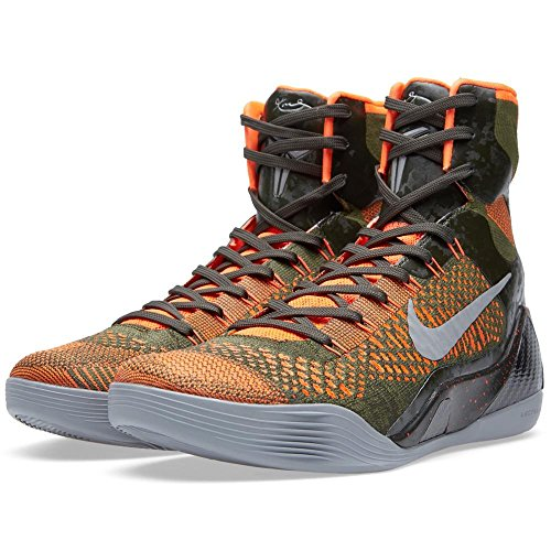 Nike Kobe IX 9 Elite 'Strategy' 630847-303 Sequoia/Green/Silver Men's Basketball Shoes (Size 9.5)