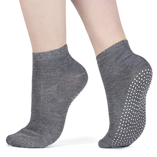 All Things Accessory 3x Packung Yoga Socken Pilates Ballet Socken - Martial Arts, Fitness, Zumba, Tanz - Anti-Rutsch - Full Toe Sports Socken - Unisex mit Grip, UK 6-11 / EU 39-46 (Dark Grey)