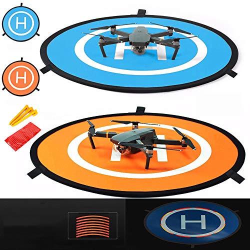 iMusk 75cm Drohne und Quadcopter Landeplatz, RC-Flugzeug-Softstartmatte Oberfläche aus wasserdichtem, umweltfreundlichem Polyester Für DJI Inspire 2, Phantom 3/4, DJI FPV, Mavic Pro/Air/Mini 2 Zubehör