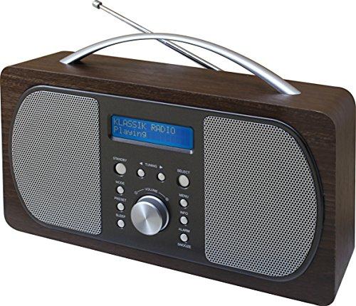 Soundmaster DAB600DBR DAB+ und UKW Digitalradio, Dualalarm, Kopfhörerbuchse