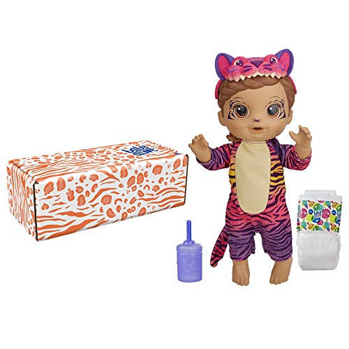 Baby Alive Rainbow Wildcats Doll, Tiger, Accessories, Drinks, Wets, Tiger Toy for Kids Ages 3 Years and Up, Brown Hair (Amazon Exclusive)