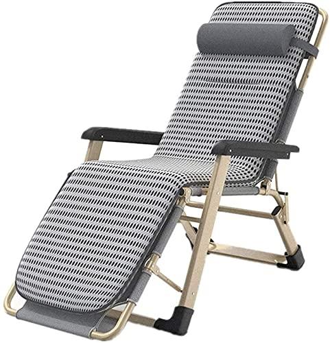 Folding Zero Gravity Lounge Chair, Recliner Folding Deck Chair Folding Sun Loungers With Pad, Leisure Home Balcony Sofa Folding Chair Load 150 Kg 178x66x40cm Sun Lounger Garden Chairs (Color : As Show