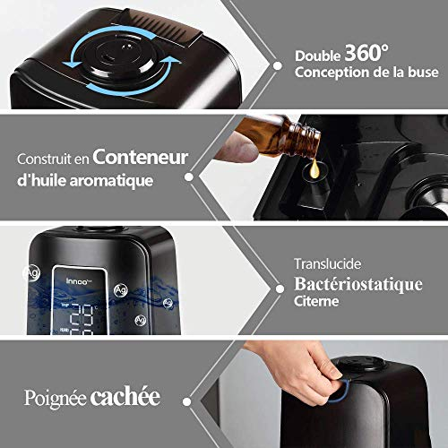 Innoo Tech Humidificateur bébé d'air Maison avec la Télécommande, 4.5L...