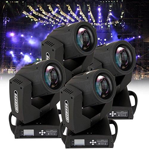 Ridgeyard 4 PCS RBG Moving Head Light Beam Lights 16CH DMX DJ Light Stage Party Disco Club Spot Lighting (4pcs)