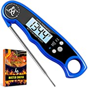 Digital Meat Thermometer - Best Waterproof Instant Read Thermometer with Calibration and Backlight functions