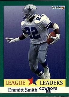 1991 Fleer #418 Emmitt Smith LL NFL Football Trading Card