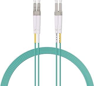 Fiber Patch Cable - LC to LC OM3 10Gb/Gigabit Multi-mode Duplex 50/125 LSZH Fiber Optic Cord for SFP Transceiver, Computer Fiber Networks and Fiber Test Equipment, 3-Meter(10ft)