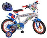 Marvel The Avengers Kinderfahrrad 14 Zoll + Fahrradhelm Gr. 51-55 cm | Felgenbremse Trommelbremse...