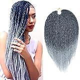 Mirra's Mirror (6Packs)14Inch Senegalese Twist Crochet Hair Braiding Hair Synthetic Mambo Twist Hair Extension 30Strands/Pack (14inch (6packs), 1B#)