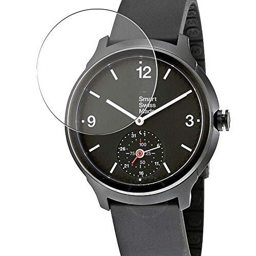Vaxson 3 pellicole protettive in vetro temperato 9H compatibili con Mondaine Helvetica 1 Smartwatch Hybrid Watch, pellicola protettiva per lo schermo in vetro temperato
