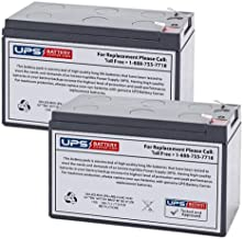 12V 7Ah SLA Replacement Battery Set for Edwards Signaling EBPS6A Remote Booster Power Supply