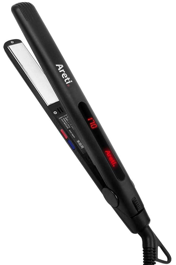 オリエンタル差し控える強要Areti(アレティ) 20mm ストレート カール ヘアアイロン ART.i679BK (ブラック)
