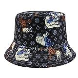 SKGQZD Parasol de Moda Simple Elefante Jirafa Sombrero de sombrilla de Estilo múltiple-Negro_58cm