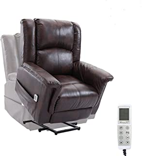 Dnyker Power Lift Massage Recliner Chair for Elderly with Heat and Vibration,Remote Control,PU Electric Recliner for Living Room,Bedroom
