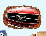 Pegatinas de pared Etiqueta de la pared del coche Etiqueta de la pared 3D Art Poster Decoración de la pared Calcomanía Mural