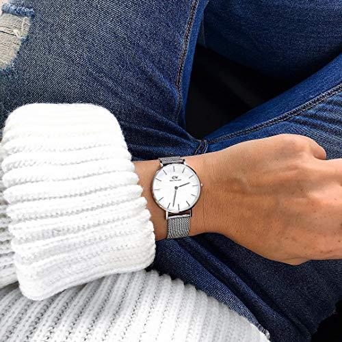 Daniel Wellington Femme Analogique Classique Quartz Montre avec Bracelet en Acier Inoxydable...