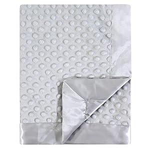 Hudson Baby Unisex Baby Plush Mink Blanket, Gray, One Size
