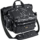 PLUSINNO Fishing Tackle Bag, Large Saltwater Resistant Fishing Bags, Outdoor Fishing Tackle Storage Bags, Water-Resistant Fishing Gear, Suitable for 3600 Tackle Box and Pliers Storage