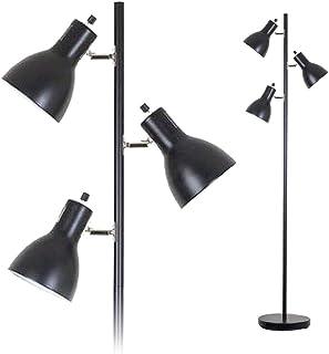 フロアスタンド ランプ フロアライト スタンドライト 3灯 LED電球対応 (GT-DJ-02B) 組立式 ブラック スポットライト 北欧 おしゃれ 間接照明 led スタンド照明 多角度 自由自在 照明器具 電気スタンド 個別点灯可 寝室 リビング 居間 インテリアライト ルームライト