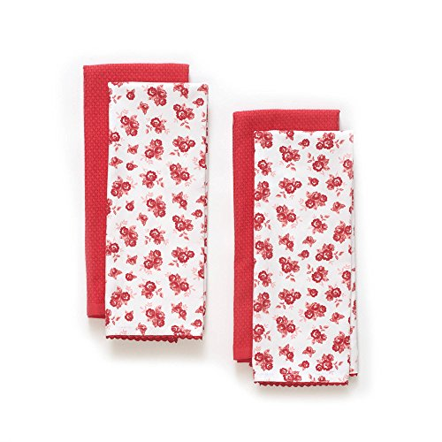 The Pioneer Woman Wild Rose Kitchen Towel Set, 4pk