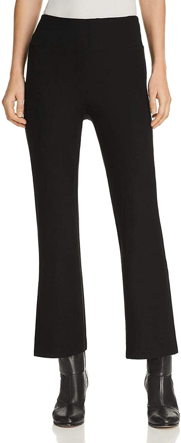 Eileen Fisher Womens Petites Flat Front Pull On Bootcut Pants Black PP
