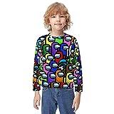 ZSMJ Among Us Impostors - Sudaderas con capucha para adolescentes con impresión 3D y bolsillos para niños/niñas