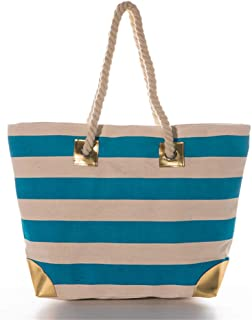 Women Metal Gold Pineapple Large Beach Tote Bag with Gold Accents