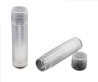 10pcs 5ml Transparent Empty Lip Balm Tubes Lip Gloss Container Holder With Caps (Transparent)