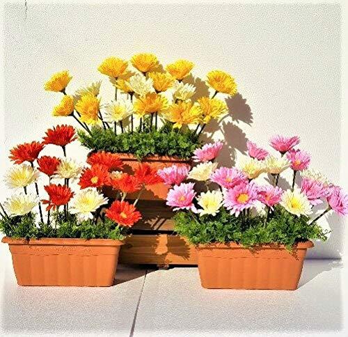 造花 ガーベラプランター 3点セット 価格