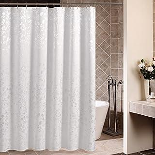 Ommda zasłona prysznicowa odporna na pleśń i pleśń wodoodporna do łazienki z 12 szt. plastikowych haczyków pierścień 180 x...