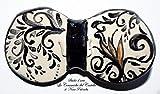 Papillon in Ceramica Linea Antiquae Realizzato e dipinto a mano da Le Ceramiche del Castello 100% Made in Italy Pezzo Unico dimensioni: 9,5 x 5 centimetri