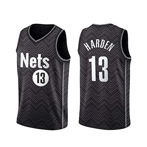 LXLX Jāmês Hardén 13# Jersey para Hombre, 2021 Brōōklyn Nets New Temporada Black Basketball Jerseys, Tela Transpirable Swingman Vestima sin Mangas Top XL