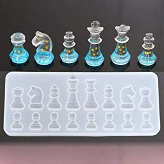 BYyushop Chess Pieces Silicone Mold Jewelry Making Epoxy Mould DIY Handmade Crafting Tool