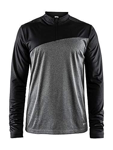 Craft Radiate LS Tee M T-shirt de course à manches longues avec demi-fermeture Éclair