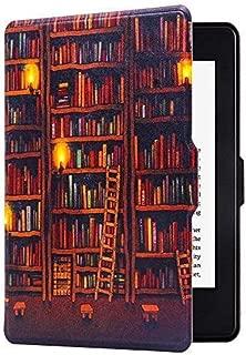 Huasiru のAmazon Kindle Paperwhite専用の絵模様カバー (2012, 2013, 2015, 2016, 2017) 図書館