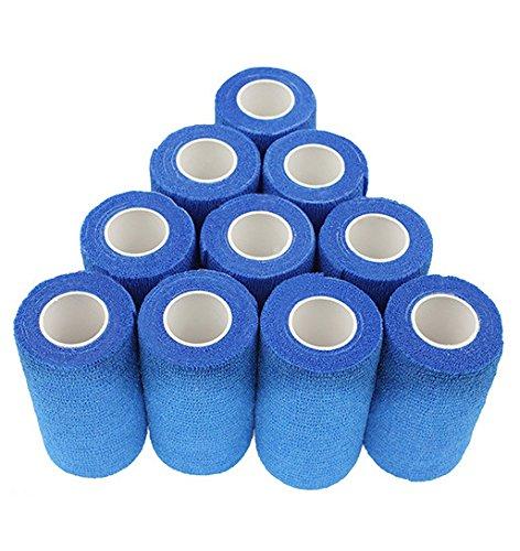 nilo Haftbandagen - 12 Rollen 7,5cm x 4,5m selbsthaftende elastische atmungsaktive Bandage,...