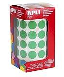 APLI Kids - Rollo de gomets redondos 15,0 mm, color verde