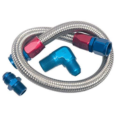 Edelbrock 8122 Braided Stainless Steel Fuel Pump to Fuel Pressure Regulator Fitting