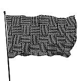 Woven Oboes Flag Summer Garden Flag Black American Flag 3x5 Outdoor Single Side Banner Sign